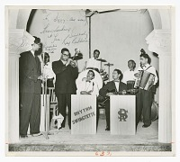view Photograph of Dizzy Gillespie playing the trumpet in Karachi, Pakistan digital asset number 1