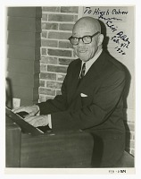 view Autographed photograph of Eubie Blake playing the piano digital asset number 1