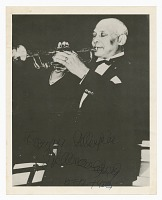 view Photograph of an unidentified man playing a trumpet digital asset number 1