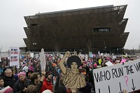 view Digital image of a crowd of marchers during the Women's March digital asset number 1