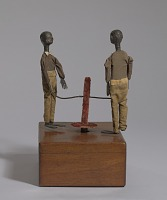 view Crank toy in the form of two minstrel male dancers digital asset number 1