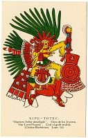view Xipe-Totec [picture postcard] digital asset: Xipe-Totec [picture postcard].