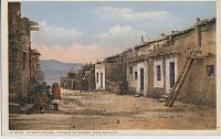 view Street Scene, Pueblo of Acoma, New Mexico [photomechanical postcard] digital asset: Street Scene, Pueblo of Acoma, New Mexico [photomechanical postcard].