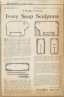 view Ivory Soap Sculpture. [Print advertising. Children's publications such as Boy's Life, American Boy, and St. Nicholas.] digital asset: Ivory Soap Sculpture. [Print advertising. Children's publications such as Boy's Life, American Boy, and St. Nicholas.] 1926.