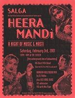 view Heera Mandi / A Night of Music and Masti / ...at The Cooler [color flier] digital asset: Heera Mandi / A Night of Music and Masti / ...at The Cooler [color flier], 2001.