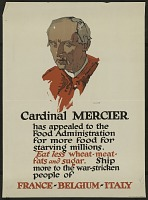 "view ""Cardinal Mercer Has Appealed To The Food Administration"" digital asset number 1"