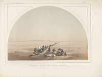 "view Chromolithograph of ""Colorado Desert and Signal Mountain"" digital asset number 1"