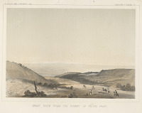 "view Chromolithograph of ""Great Basin from the Summit of Tejon Pass"" digital asset number 1"