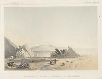 "view Chromolithograph of ""Metamorphic Rocks-Borders of the Desert"" digital asset number 1"