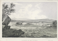 "view Lithograph of ""Cascades of the Columbia"" digital asset number 1"