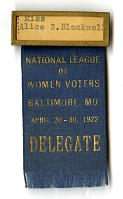 view National League of Women Voters Delegate Badge, 1922 digital asset number 1