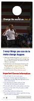 view Obama Campaign Door Hanger, 2008 digital asset number 1