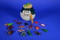 view Ceramic Jar with Cork Containing Plastic Y2K Bugs digital asset: Ceramic Jar with Cork Containing Plastic Y2K Bugs