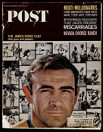 view <i>Saturday Evening Post</i> featuring Sean Connery digital asset number 1
