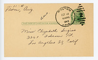 view Postcard from classmate Rose to Elizabeth Sugino digital asset number 1