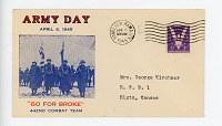 "view Postcard envelope with ""Go for Broke, 442nd Combat Team"" image, Hawaii, 1945 digital asset number 1"