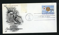 view Winter Special Olympics commemorative U.S. postage stamp, March 25, 1985 digital asset: Winter Special Olympics Stamp 1985
