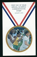 view Special Olympics commemorative U.S. postage stamp, August 9, 1979 digital asset: Special Olympics Stamp 1979