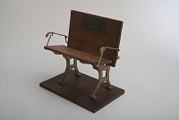 view Fernando Dibble's 1867 School Seat Patent Model digital asset number 1