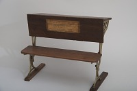 view Issac Cook's School Desk and Seat Patent Model digital asset number 1