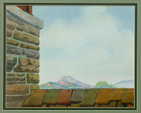 view Painted background used in cartoon <i>Knock Knock</i> digital asset number 1