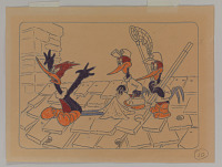 view Storyboard drawing for Woody Woodpecker cartoon <i>Knock Knock</i> digital asset number 1