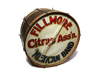 view Bass Drum from the Fillmore Citrus Association Mexican Band digital asset: Bass Drum from the Fillmore Citrus Association Mexican Band