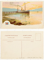 view Compagnie Belge Maritime du Congo [Waterfront landscape] digital asset: Compagnie Belge Maritime du Congo [Waterfront landscape]