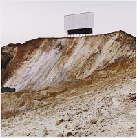 view <I>The screen of the Top Star Drive-in theatre on an old mine dump. Johannesburg, South Africa.</I> digital asset number 1