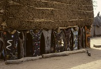 view Togu na meeting house with painted support posts Dogon region, Mali digital asset: Togu na meeting house with painted support posts Dogon region, Mali
