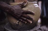 view Making pottery, Yoruba peoples, Ede, Nigeria digital asset: Making pottery, Yoruba peoples, Ede, Nigeria