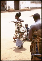 view Woman dancing at the royal palace, Abomey, Benin digital asset: Woman dancing at the royal palace, Abomey, Benin