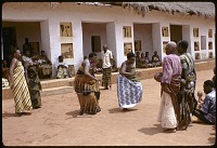 view Women dancing at the royal palace, Abomey, Benin digital asset: Women dancing at the royal palace, Abomey, Benin