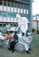 view Outdoor sculpture in front of Law School of Lovanium University, Kinshasa, Congo (Democratic Republic) digital asset: Outdoor sculpture in front of Law School of Lovanium University, Kinshasa, Congo (Democratic Republic)