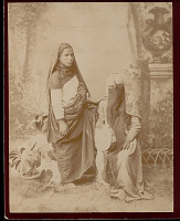 view Portrait of Two Women in Costume, One Veiled and Holding Tam- Bourine 1894 digital asset number 1