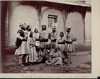 view Group of Guddies, natives of Chamba-Punjab 1863 digital asset number 1