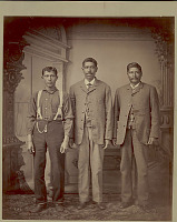 view Portrait of Three Men (Possibly Mixed Native American and Afro-American Blood ?) n.d digital asset number 1