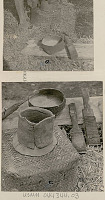 view Pot in Early Stage of Manufacture, and Paddles Used for Smoothing Clay n.d digital asset number 1