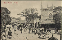 view Colombo Group with Jinrikshas and Thatch-Covered Wagons at Pettah Marketplace n.d digital asset number 1