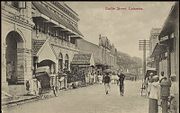 view View Along Baillie Street Showing Group of Men in Costume And Jinrikshas n.d digital asset number 1