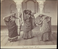 view Three Nautch girls dancing 1862 digital asset number 1