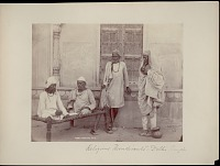view Four men, Sadhus (Ascetics) or Fakirs (Mendicants) 1862 digital asset number 1