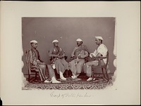view Portrait of four Delhi bankers 1862 digital asset number 1