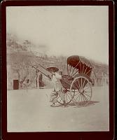 view Man in Costume, Pulling Jinriksha 1896 digital asset number 1