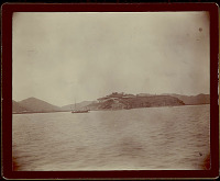 view View of Macao City and Island?; Junk in Harbor 1896 digital asset number 1