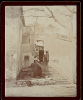 view View of City Street, Stone Steps, and Masonry Shops? or Houses? 1896 digital asset number 1
