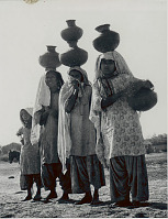 view Three Women and Girl in Costume and with Clay Water Jars 1956 digital asset number 1