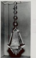 view Lamp, Brass:Filigree:Hanging:Moorish Style:Gift From Pakistan for New Building of International Bureau of Universal Postal Union n.d digital asset number 1