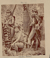 view Three Men in Costume with Shields and Weapons n.d digital asset number 1