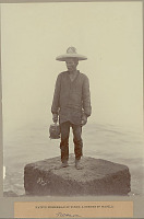 view Fisherman in Costume with Wood Container and Near Water 1901 digital asset number 1